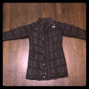Black North Face Long Winter Coat
